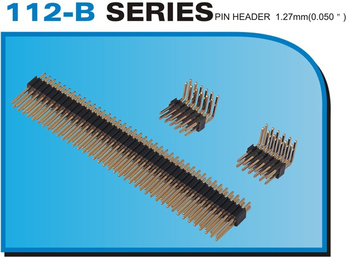 "112-B SERIES PIN HEADER 1.27mm(0.050"")"
