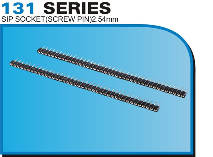 131 SERIES SIP SOCKET(SCREW PIN)2.54mm