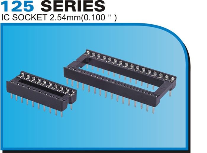 "125 SERIES IC SOCKET 2.54mm(0.100"")"