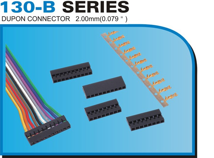 "130-B SERIES DUPON CONNECTOR 2.00mm(0.079"")"